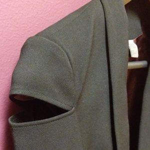 H&M Open Cut Out Shoulder Blazer Size 4 Black